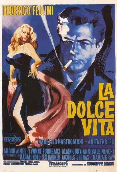La Dolce Vita Fellini Movie Poster 24x36 – BananaRoad