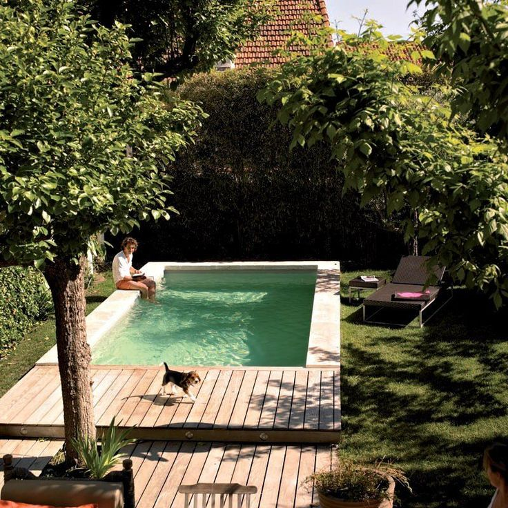 You don't have to have a big backyard to fit in a pool — and if you do have a big backyard, the pool doesn't have to take up the entire thing. We've got plenty of examples of less-than-enormous backyards where homeowners have squeezed in a pool — and lots
