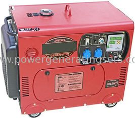 China Mobile Silent Diesel Generator Portable Electric Generator 6kv Hand Start supplier