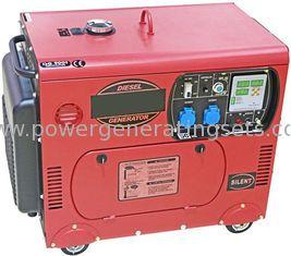 China Mobile Silent Diesel Generator Portable Electric Generator 6kv Hand Start supplier