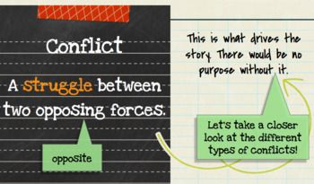 Conflict Types in Literature Mini Lesson Notes and Activity