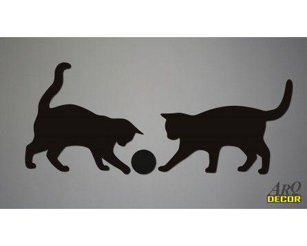 Dwa Czarne Koty (NA ZAMÓWIENIE) 01 Dekoracje Ścienne 3d - ARQ - DECOR | Pracowania Dekoracji ARQ DECOR