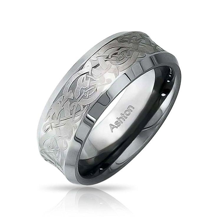 Bling Jewelry celtiques unisexe Dragon tungstène Anneau de mariage 8mm: Amazon.fr: Bijoux