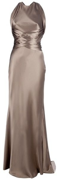 Ralph Lauren Theodora Gown in molton iced chocolate