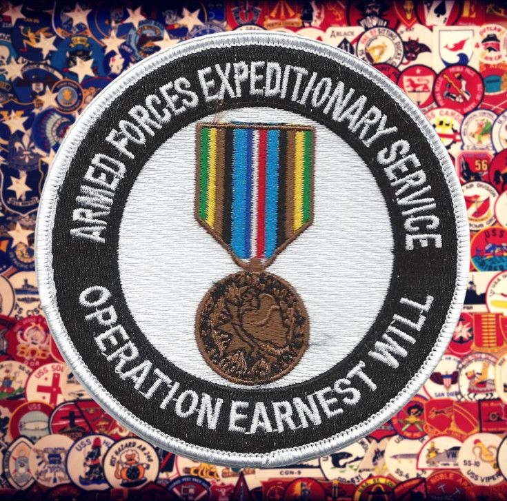 United States Armed Forces Expeditionary Service Operation Earnest Will Medal Military Patch