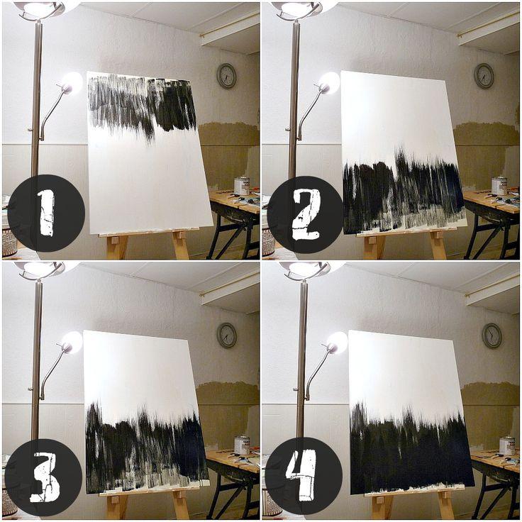 como pintar cuadro-abstracto-blanco-y-negro