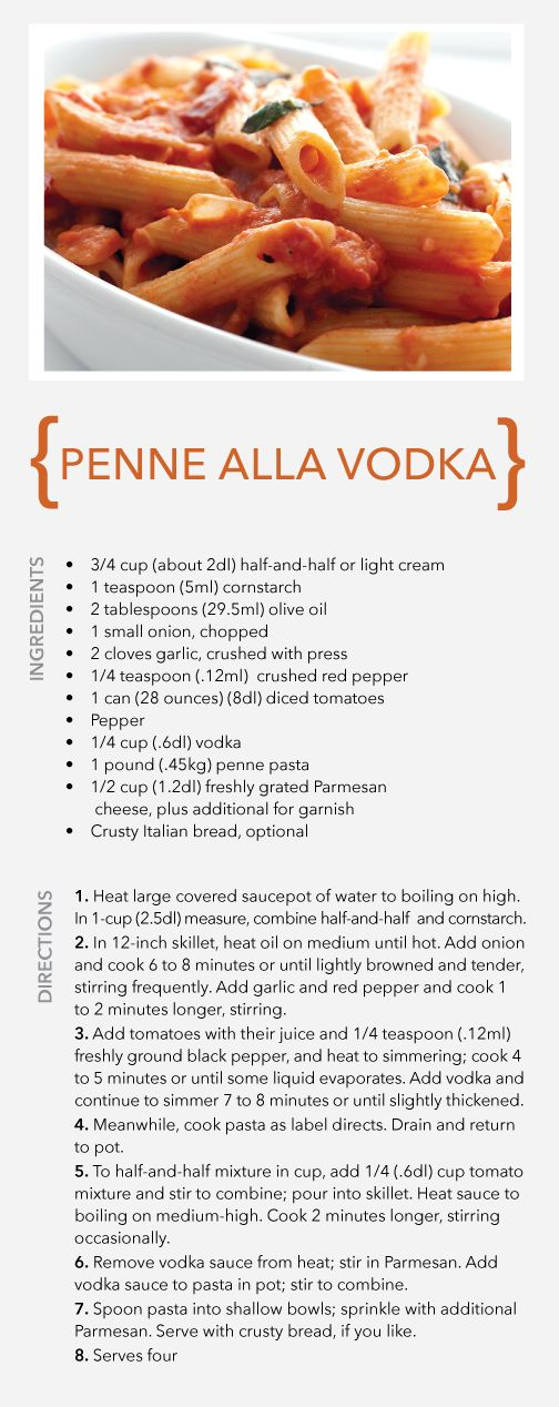 Aloxxi's Penne Alla Vodka recipe. Try it today. Yum! | pasta | Italian food | recipe
