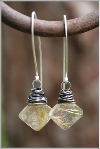 """An example of a double or triple wrapped bead. Also sometimes called a """"messy wrap"""""""