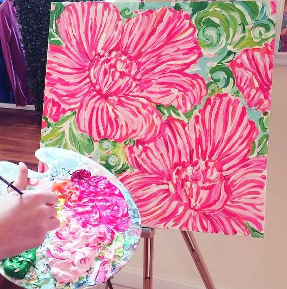 Lilly Pulitzer Painting in Winter Park Store