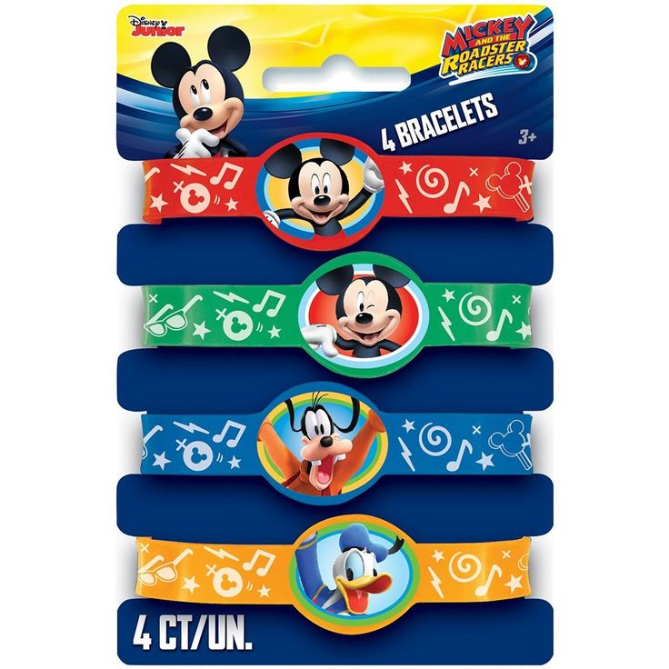 Mickey Mouse Silicone Wristband Party Favors, 4ct, Party Favors - Amazon Canada