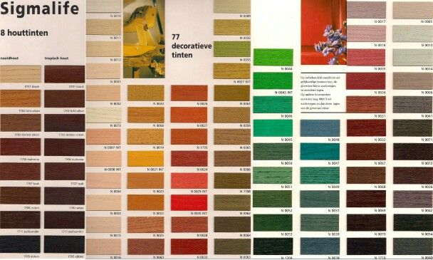 Beits kleuren