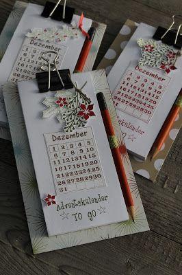 Den Post heute könnte ich mir auch sparen! ;-) Es gibt nur noch einmal Adventskalender. Die braucht jetzt keiner mehr und ein Licht!Natürl... - Adventskalender to go
