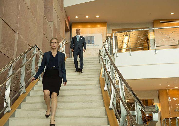 Better Call Saul Season 2: Kim Wexler (Rhea Seehorn) and Howard Hamlin (Patrick Fabian) in Episode 5.