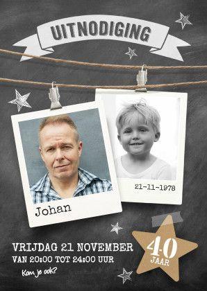 Uitnodiging verjaardag jubileum, verkrijgbaar bij #kaartje2go voor €1,89