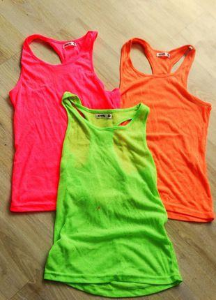 Kup mój przedmiot na #vintedpl http://www.vinted.pl/damska-odziez/koszulki-na-ramiaczkach-koszulki-bez-rekawow/12334414-bluzki-bokserki-3-sztuki-neonowe-sinsay