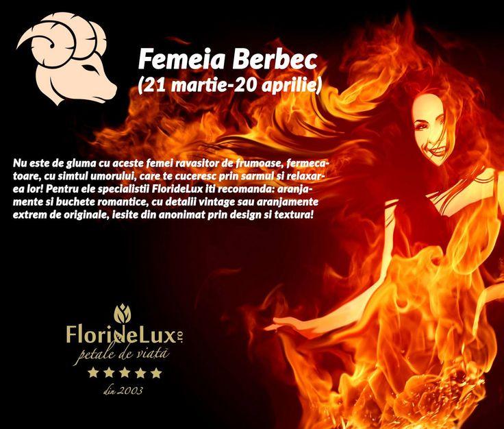 Femeia Berbec este puternica, dura, increzatoare si determinata. Florile perfecte pentru a imblanzi femeia Berbec sunt aranjamentele romantice, cu detalii vintage https://www.floridelux.ro/colectii-florale-unicat-exclusiv-floridelux/flori-zodie-zodiac/flori-zodia-berbec/