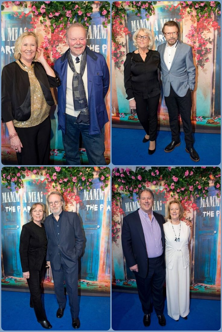 "On January 20, officially inaugurated "" Mamma Mia! The Party "". The big surprise was that the four members of ABBA were there, is the group's first meeting since the premiere of the film ""Mamma Mia!"" at Stockholm on July 4, 2008. Benny and Björn were accompanied by their wives and Mona Lena wife, Frida was seen with her partner WH Smith while Agnetha arrived with Thomas Johansson, the organizer of every tour of ABBA. (2016)"
