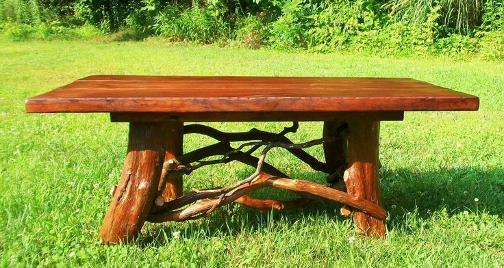 Rustic Coffee Table Handmade Log Cabin Furniture Reclaimed Wood Coffee Table Cottage Decor