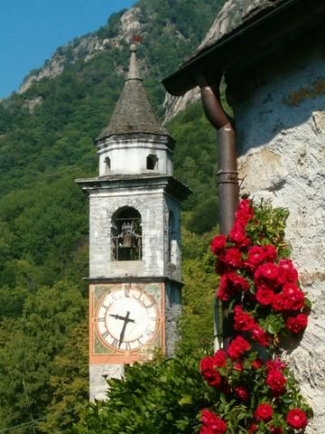 Church in Berzona, Canton Ticino, Switzerland