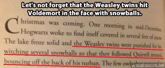 Weasley twins live dangerously...