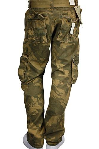 Jordan Craig Camo Cargo Pants Slim Fit Dark Tan - Olive ...