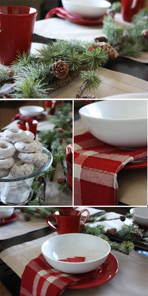 Cozy Christmas Breakfast Table