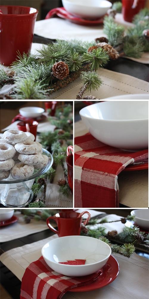 Cozy Christmas Breakfast Table