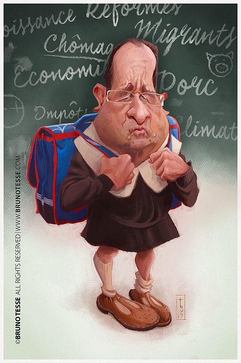 François Hollande por Bruno Tesse