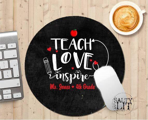 teacher mouse pad,teacher gift,teacher appreciation,teaching gift,gift for teacher,personalized teacher mouse pad,teacher custom mouse pad by SaltynLit on Etsy