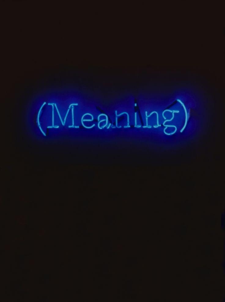 Joseph Kosuth, Sei locazioni di significato, 2000