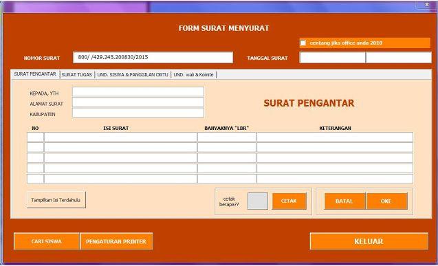 Gratis Download Aplikasi untuk Cetak Surat Sekolah secara Otomatis dengan Excel