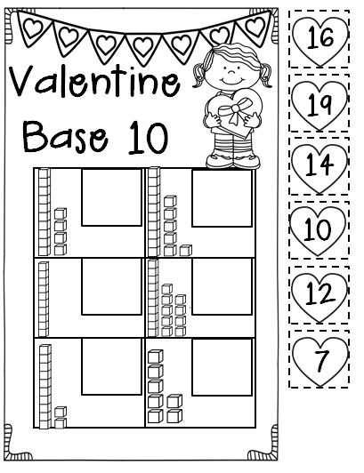 In this pack you will find loads of Valentine's day printables aligned to Common Core! Perfect for morning work, homework, centers, or a quick formative assessment! Included in this pack: color by sum, base 10, tally marks, number order-counting on, number bonds, ten frames, labeling Cupid, Valentine syllables, Valentine story map, people I love graphic organizer, things I love graphic organizer, beginning sounds, ending sounds, LOVE flipbook, Valentine writing paper.