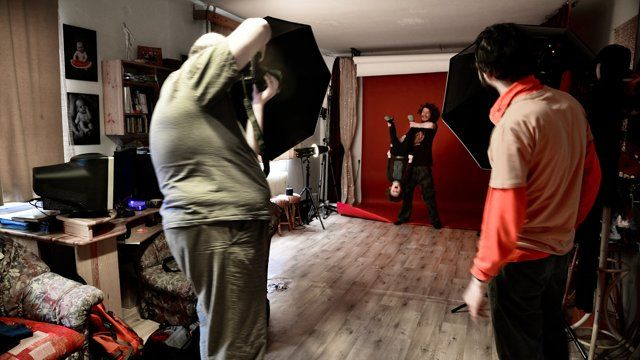 Making of product photos..