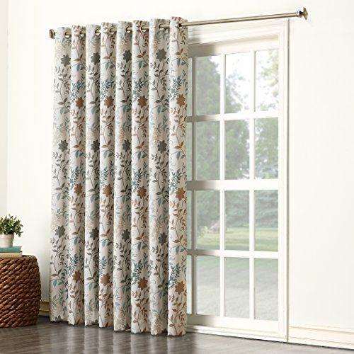 Sun Zero Kara Floral Print Energy Efficient Grommet Patio Https Www Amazon Com Dp B0193quxc6 Ref Cm Sw R Pi Patio Door Curtains Door Coverings Patio Doors
