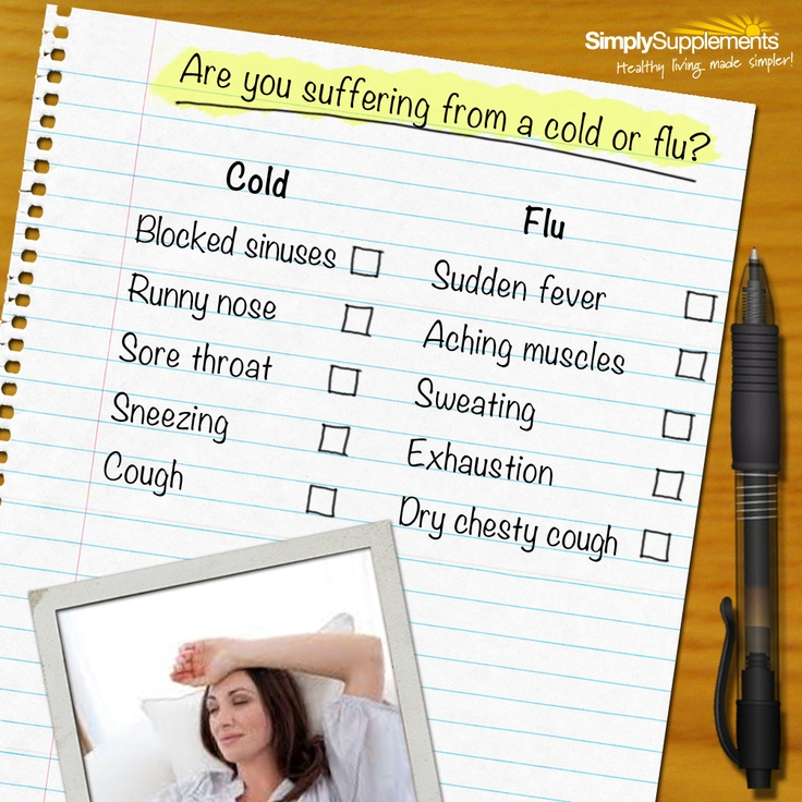 Is it cold or flu? Easily mistaken for one another. Keep clued up about your symptoms! :)
