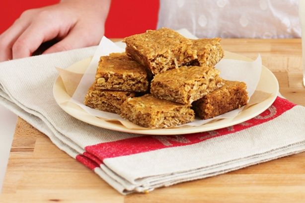 What do you get when you combine an Anzac biscuit with a slice? These delectable treats, perfect for tea-time indulgence!