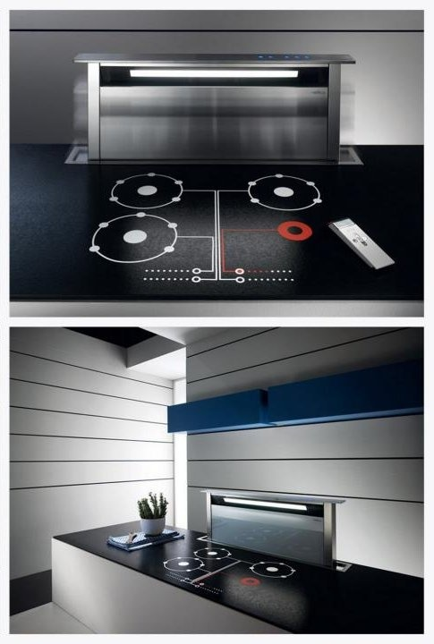 retractable cooker hood adagio by elica kitchen