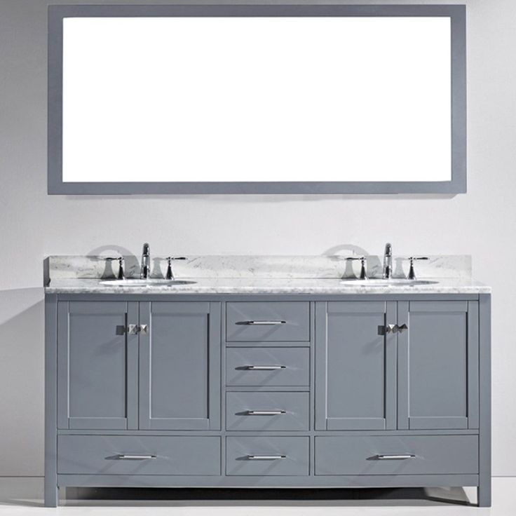 Die besten 25+ 72 inch bathroom vanity Ideen auf Pinterest Grau - badezimmer outlet