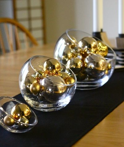 black and gold centerpieces candy | Ashbee Design: New Year's Centerpiece • Gold and Black