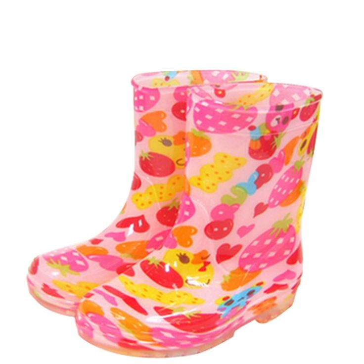 Cute Starry Kids' Rain Boots Pink Strawberry Children Rainy Days Shoes 22CM. Rubber anti-slip rain boot. Color: pink. Size: 22cm. Please choose the best fitness size for your baby according to its feet's length. We offer the Highest Quality and Lowest prices Guranteed!!.