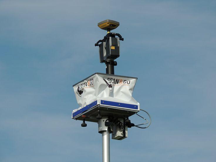Our Surveying pole with Faro Topcon
