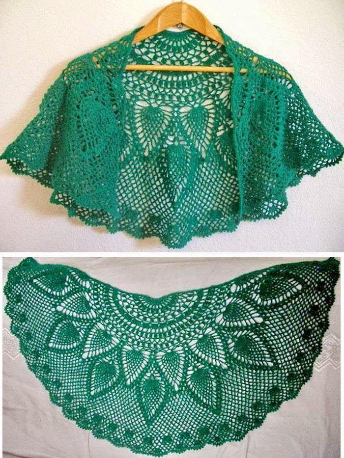 Crochet Lace Capelet Pattern - Beautiful