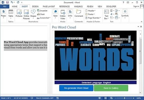 Create Word Clouds in Word And PowerPoint With Word Cloud App | PowerPoint Presentation