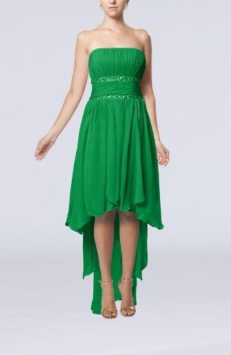 Cute Sleeveless Zipper Chiffon Hi-Lo Cocktail Dresses @Amber Phillips