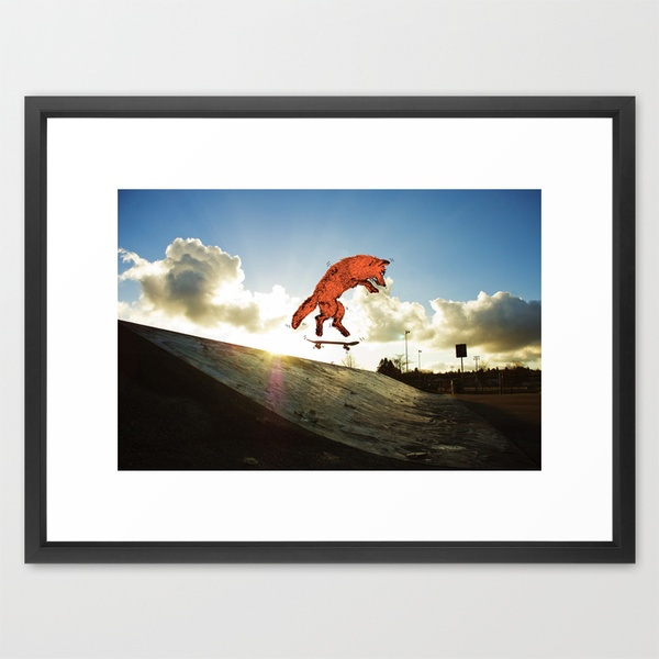 Skateboard FOX! Framed Art Print