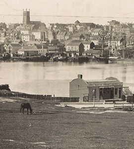 Early view of Darling Harbour