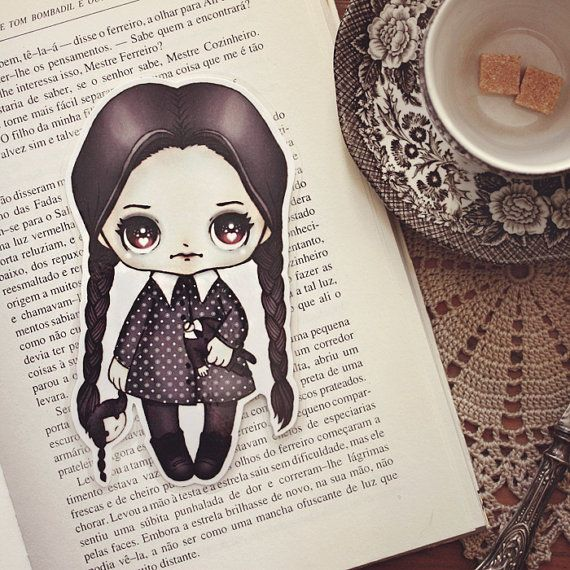 Wednesday Doll bookmark by ribonitachocolat on Etsy