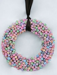 Dum Dum wreath for trick-or-treaters when you don't want to answer the door.