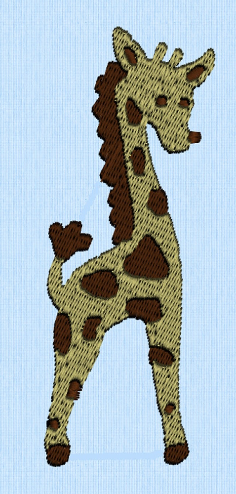 Giraffe Machine Embroidery Design File   Machine Embroidery   Pinterest   Design Files Machine ...