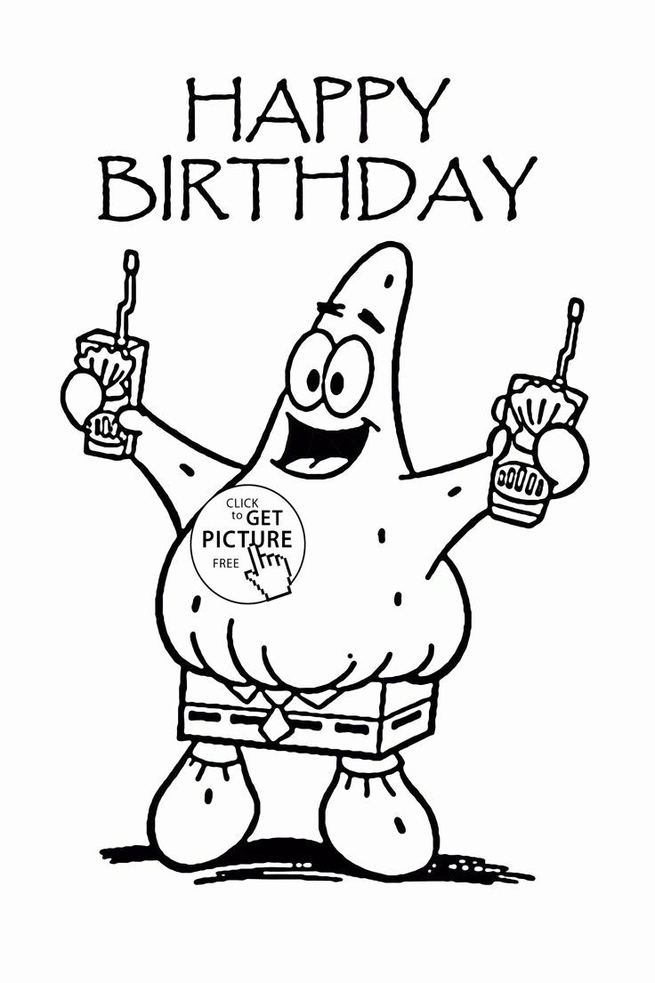 24 Birthday Card Coloring Page In 2020 Birthday Cartoon